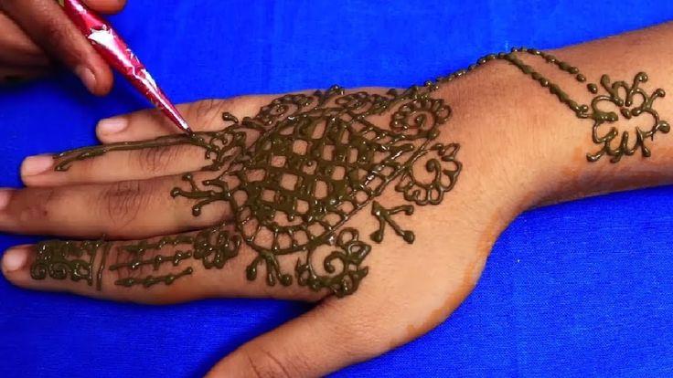 How to apply henna,mehndi designs   Easy Best Mehndi designs   Mehendi d...