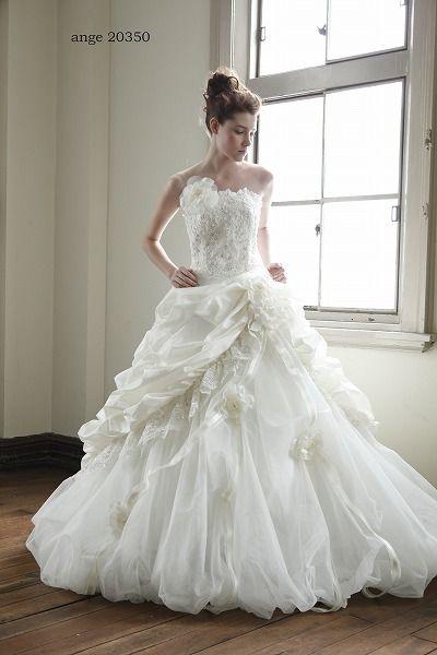 ウェディングドレス ange 20350|ウェディングドレスのレンタルなら大阪ピノエローザへ