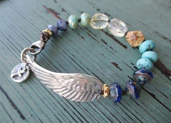 Angel wing knotted bracelet  Wing & a Prayer  by slashKnots, $90.00