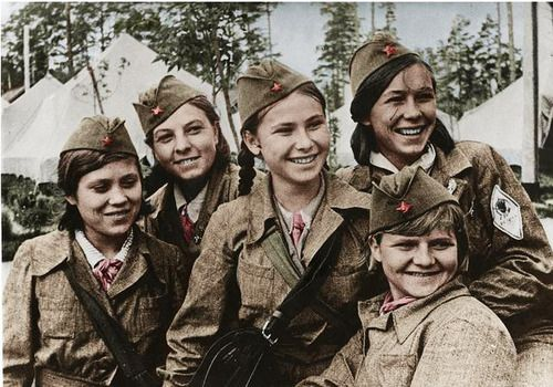 Soviet female snipers during WWII. They look like preteens.