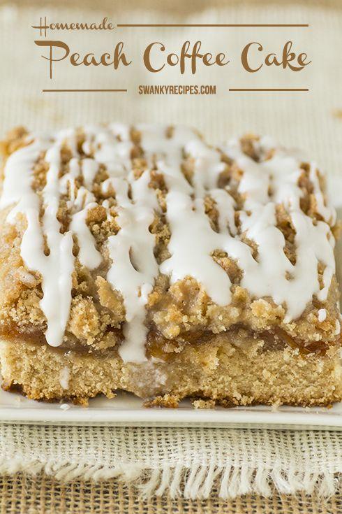 Homemade Peach Coffee Cake Recipe