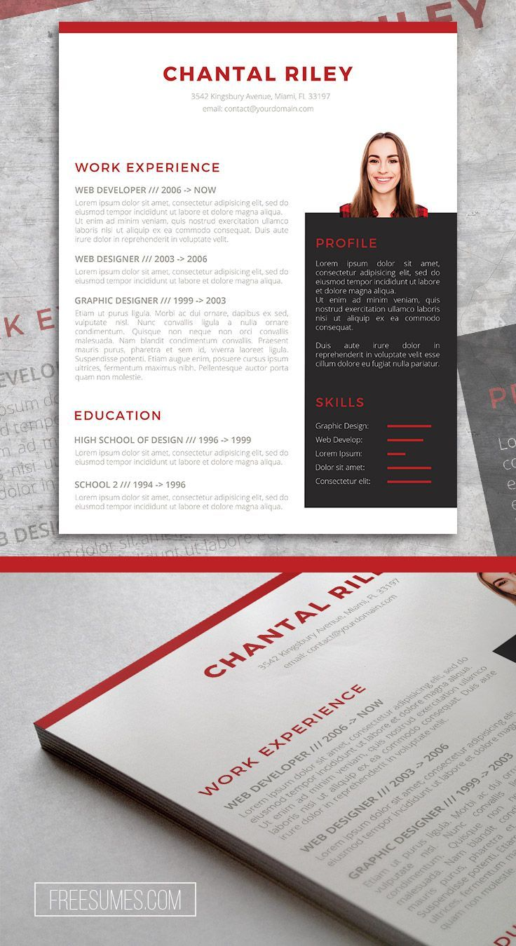 I Stand Out Resume Template Freebie For Word Free Cv