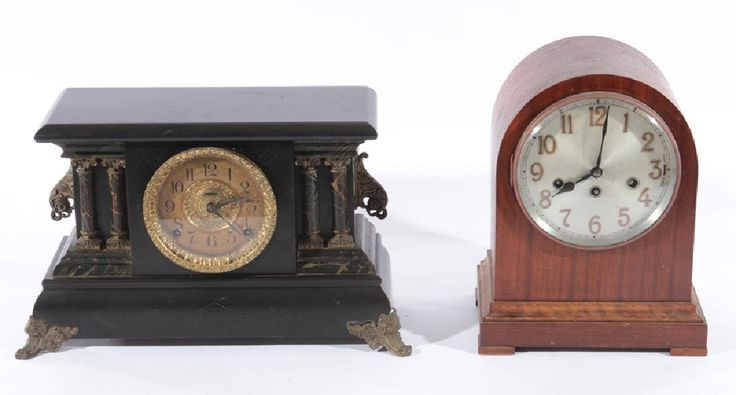 JUNGHANS MANTLE CLOCK AND INGRAHAM CLOCK