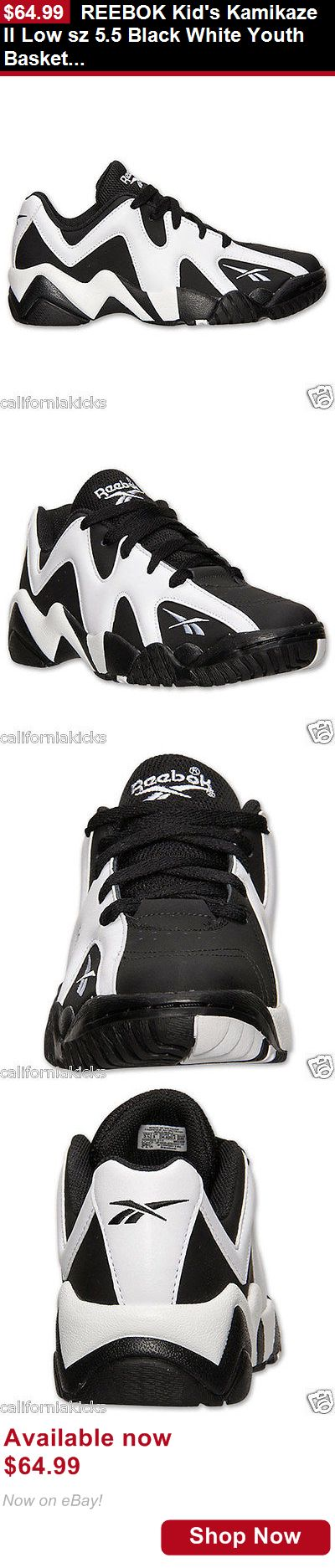 Children boys clothing shoes and accessories: Reebok Kids Kamikaze Ii Low Sz 5.5 Black White Youth Basketball Shoes 5.5Y New BUY IT NOW ONLY: $64.99