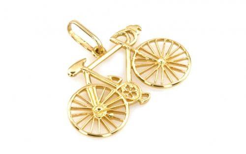 """Prívesok bicykel zo zlata,,Road bike"""""""