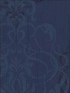 navy blue damask wallpaper... Like the subtle design so maybe find this in a shower curtain?