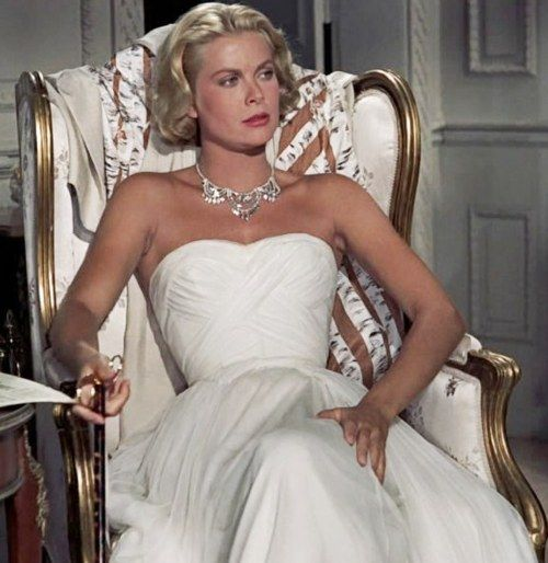 Grace Kelly in a stunning Edith Head gown in TO CATCH A THIEF.