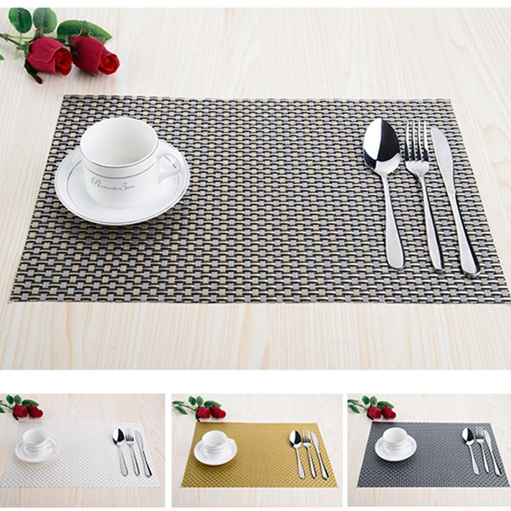 Modern PVC kitchen dinning Placemats for Table mat manteles cup mats coaster water proof table cloth pad