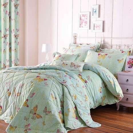 Eau de nil botanica butterfly bed linen collection for Eau de nil bedroom ideas