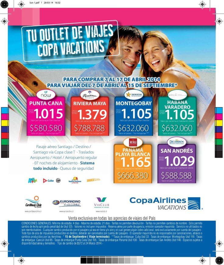 Aprovecha estas Ofertas !!!! Solo envía un mail a lfigueroa@tupperviajes.cl con sus requerimientos.
