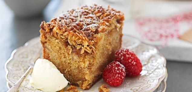Anzac apple crunch cake