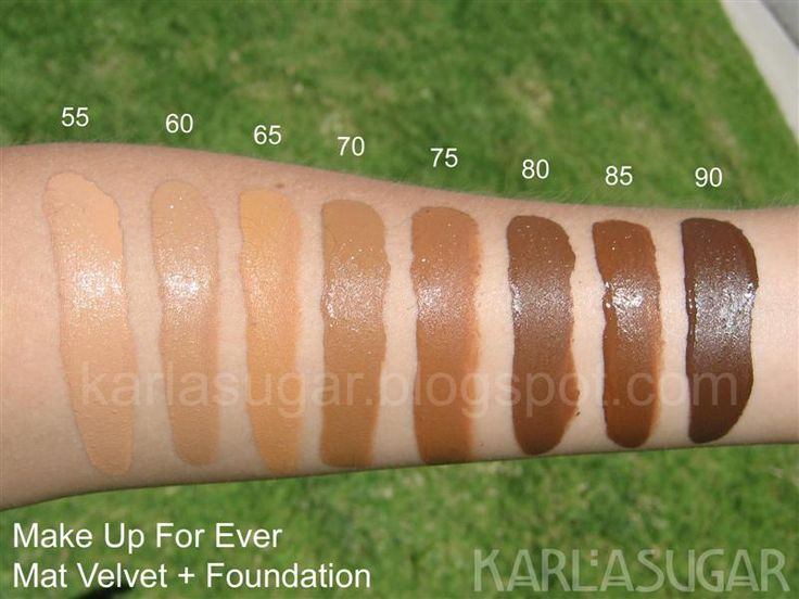 Make Up For Ever Mat Velvet Foundation Swatches Photos