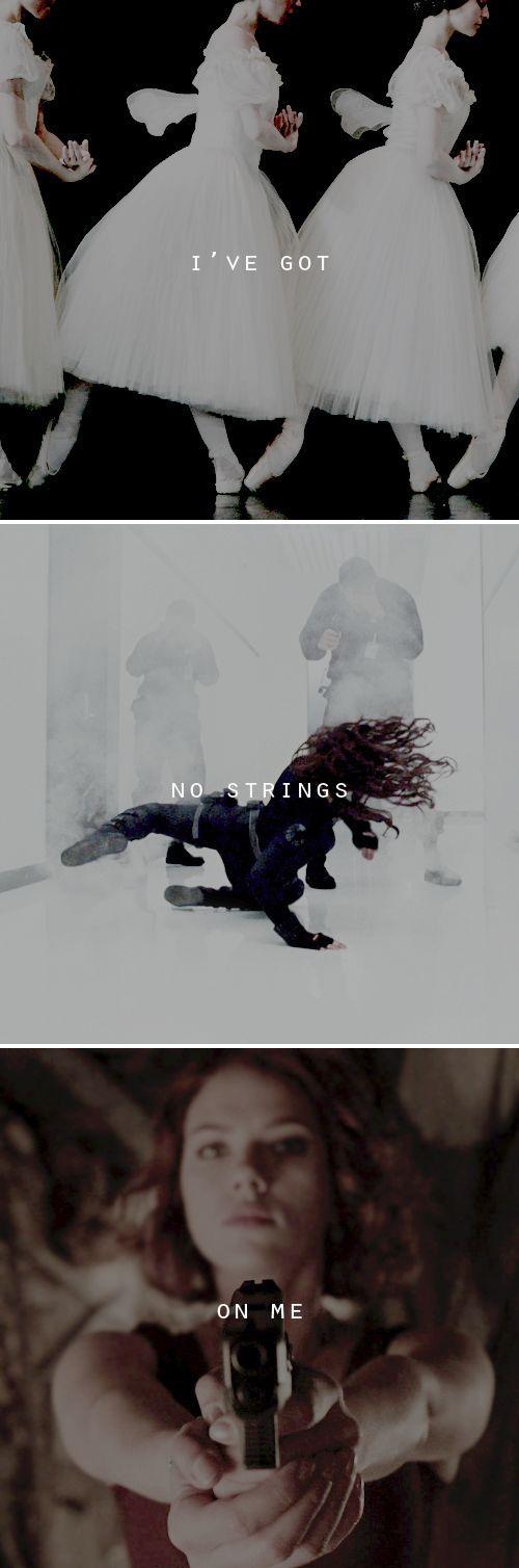 Black Widow: No strings on me.