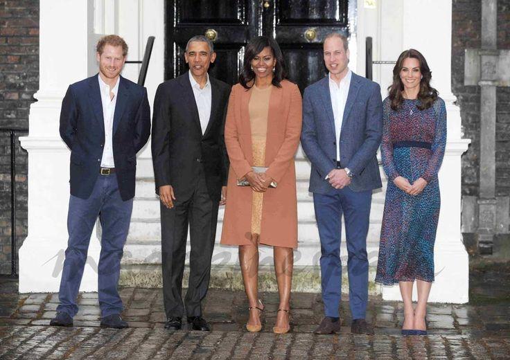 Príncipe Harry, Barack Obama, Michelle Obama, Príncipe William y Kate Middleton