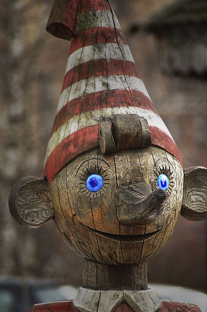 Wonderful old wooden Pinocchio - marionette