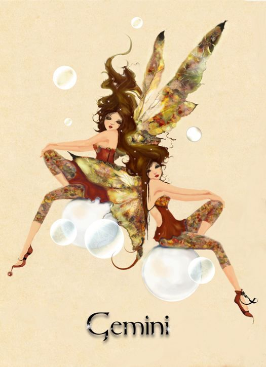 Gemini Faeries.  Get in-depth info on Gemini traits & personality @ http://www.buildingbeautifulsouls.com/zodiac-signs/western-zodiac/gemini-star-sign-traits-personality-characteristics/ Find out more about #Gemini: www.theAstrologer.com/Gemini