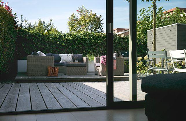 Tuinontwerp strakke onderhoudsvriendelijke tuin afbeelding | Interieur design by nicole & fleur