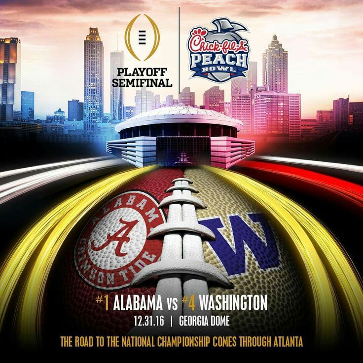 Alabama vs Washington, 2016 Peach Bowl, College Football Playoff #RollTide