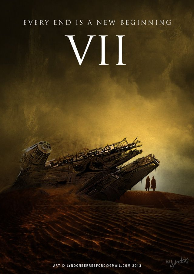 Fan Made Star Wars: Episode VII Poster Artwork by Lyndon Berresford • Artist Lyndon Berresford created an incredible conceptual movie poster illustration for the upcoming J.J. Abrams directed film, Star Wars Episode VII. The film is set to be released sometime in 2015.