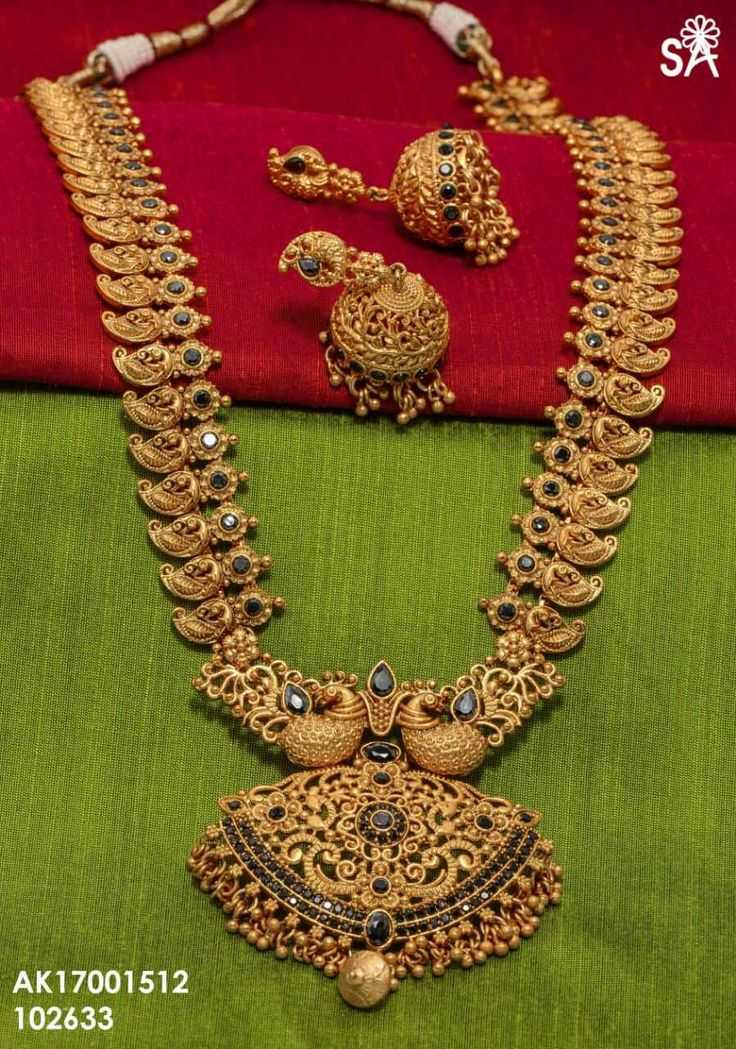 Long mango haram. Matt finish one gram gold jewelry