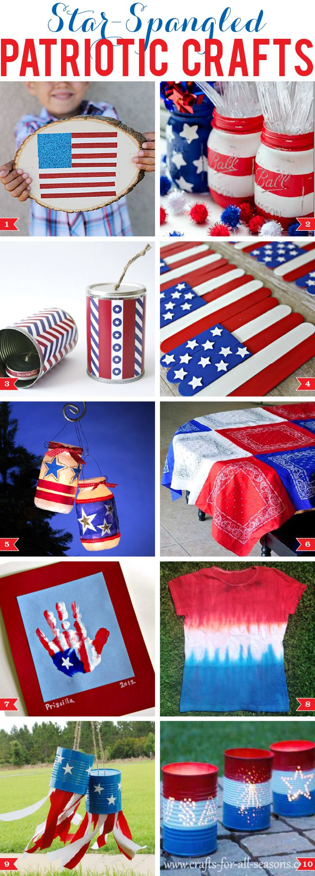 Star-spangled patriotic crafts! LOVE!