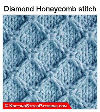 Knitting Stitch Patterns: Diamond Honeycomb stitch