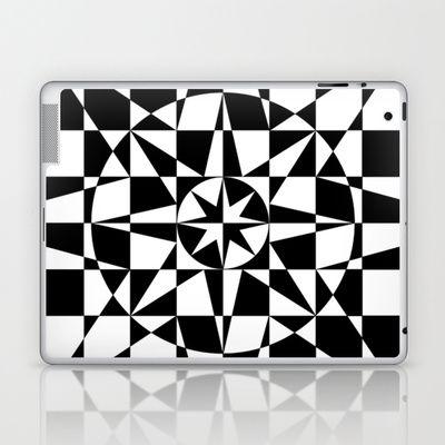 Black & White Star Laptop & iPad Skin by V. Kharuzhy