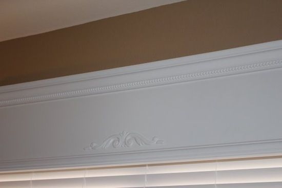 "DIY Wood Window Valance really adds a touch of ""Wow!"" in so little time! Now... which window to do first???"
