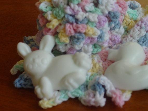 Baby Bath Gift SetBath PuffWashcloth and Handmade Soaps by ihunt, $10.50