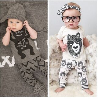 Cheap Clothing Sets, Buy Directly from China Suppliers:2015 New style summer baby boys girls clothes t-shirt + pants cotton suit children set Kids clothing bebe next infant cl