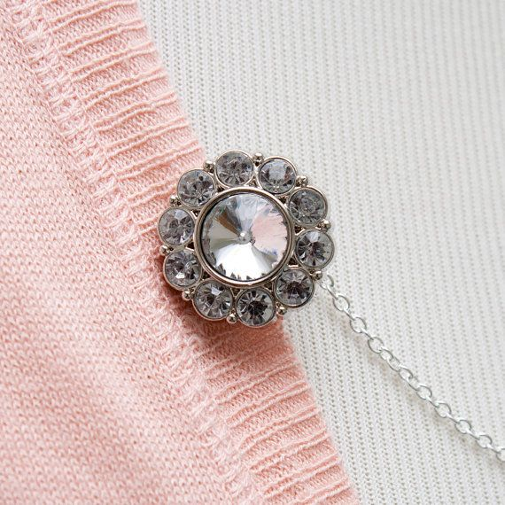 Rhinestone Sweater Clip by FoxgloveFawnlily on Etsy