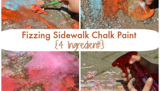 Fizzing Sidewalk Chalk Paint!