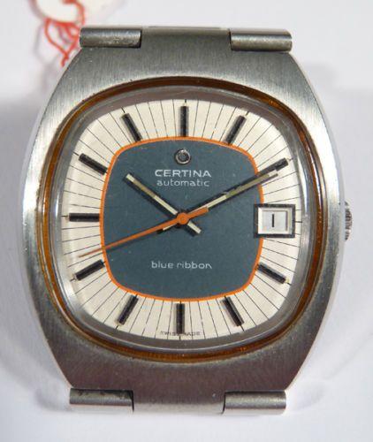 Armbanduhr-Herrenuhr-Watch-Certina-Automatic-blue-ribbon-Swiss-60er-Jahre-2798N
