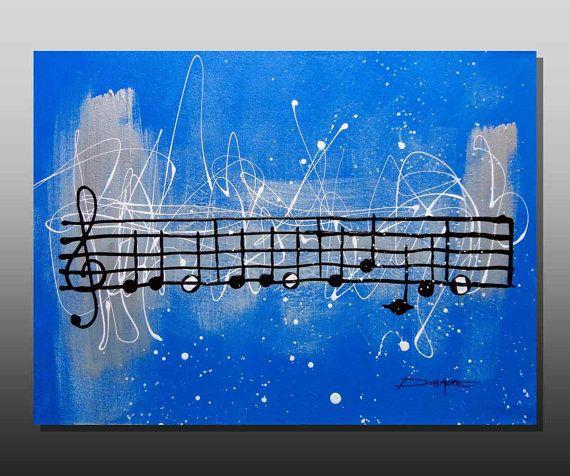 Acrylic Painting Music  ORIGINAL painting on by AniksPaintings, $450.00