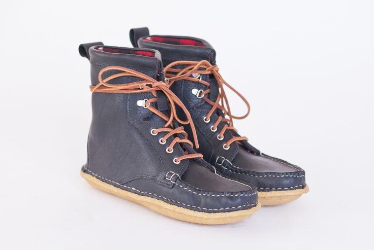 Fieldsmen Boot- Black Acadia/Woolrich Buffalo lining | New England Outerwear