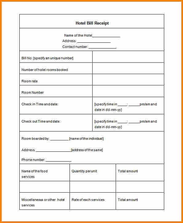 Pin By Steam Stepper On Hotel Invoicess Receipt Template Invoice Template Word Invoice Template