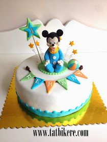 Mickey mouse cake , baby mickey mouse cake , bebek mickey mouse cake , mickey mouse figurine
