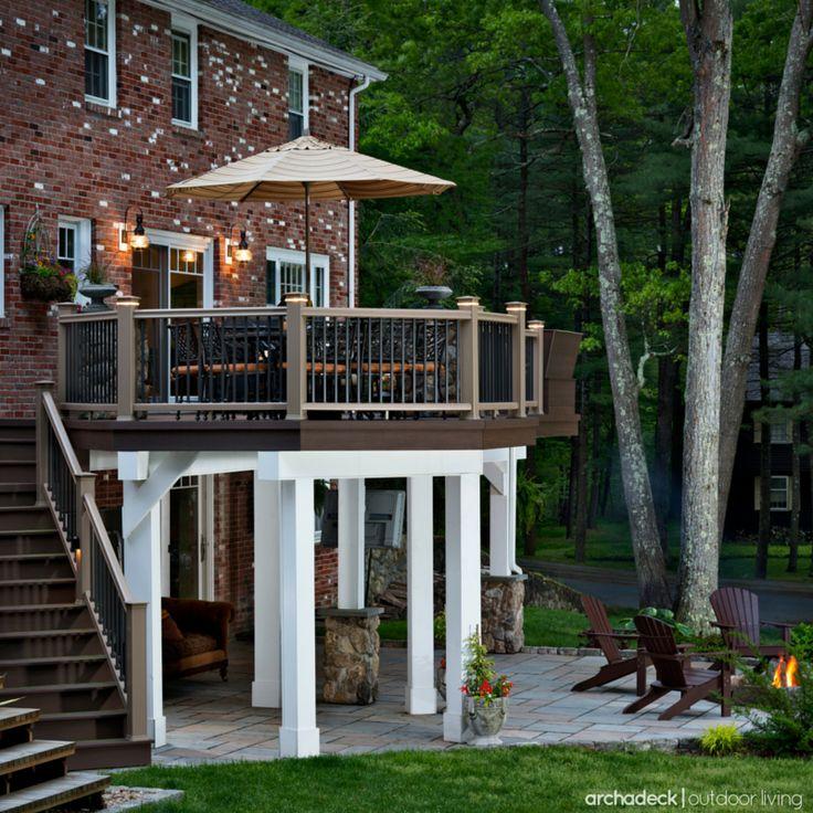 Flat Deck Design Ideas: Best 25+ Raised Deck Ideas On Pinterest