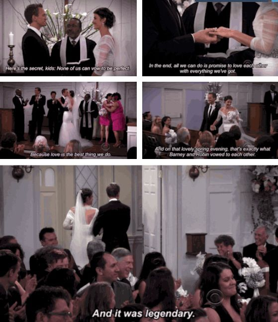 Barney and Robin got married and it was legendary! How I Met Your Mother #himym