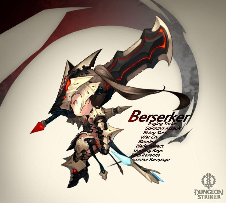 Dungeon Striker - Berserker female / from Dungeon Striker fansite kit