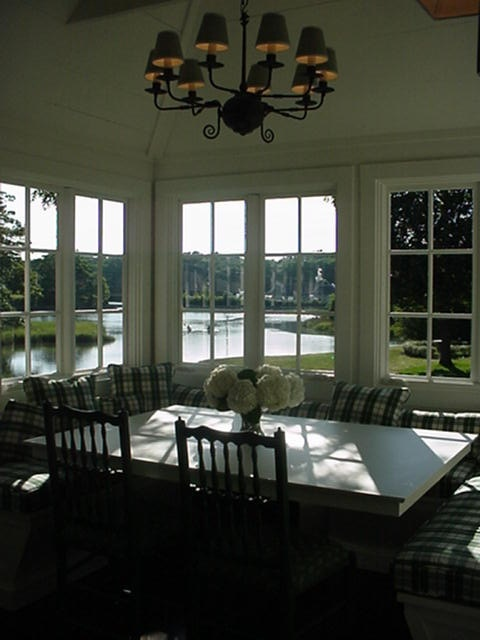 Dining room at  The Anchorage  cottage at Cabot Cove Cottages in  Kennebunkport  Maine  Nice view    Dining Rooms   Pinterest   Beautiful   Nice and Beautiful  Dining room at  The Anchorage  cottage at Cabot Cove Cottages in  . Porch Dining Room Kennebunkport. Home Design Ideas