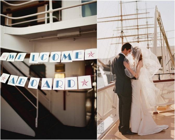 Nautical wedding inspiration image