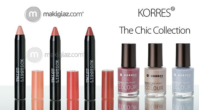 Two different choices for makeup and nails come with the new Limited Edition Collection Chic & Glowing from Korres.  English Article http://makigiaz.com/blog/korres-chic-glowing-collection-en  Greek Article http://makigiaz.com/blog/korres-chic-glowing-collection
