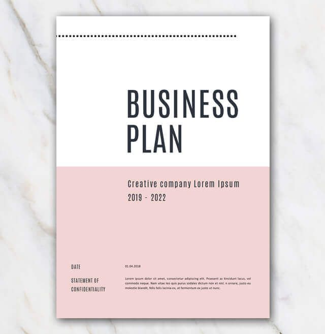 Pink Creative Business Plan Template Creative Business Plan