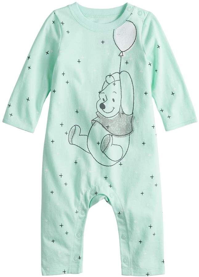 Baby Girls Disney Winnie The Pooh Babygrow Pooh Bear Character Sleepsuit 9 Month