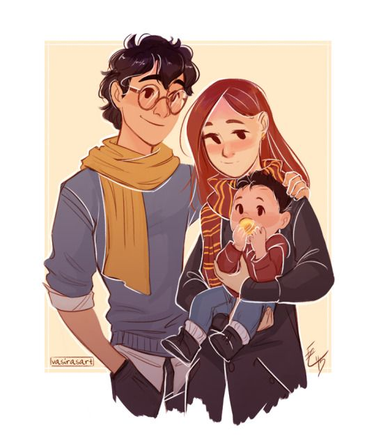 James, Lily and little Harry by vasira