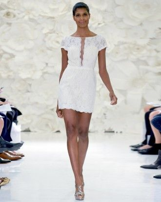 """See the """"Watters """" in our 19 Short and Sweet Wedding Dresses From the Bridal Shows  gallery"""