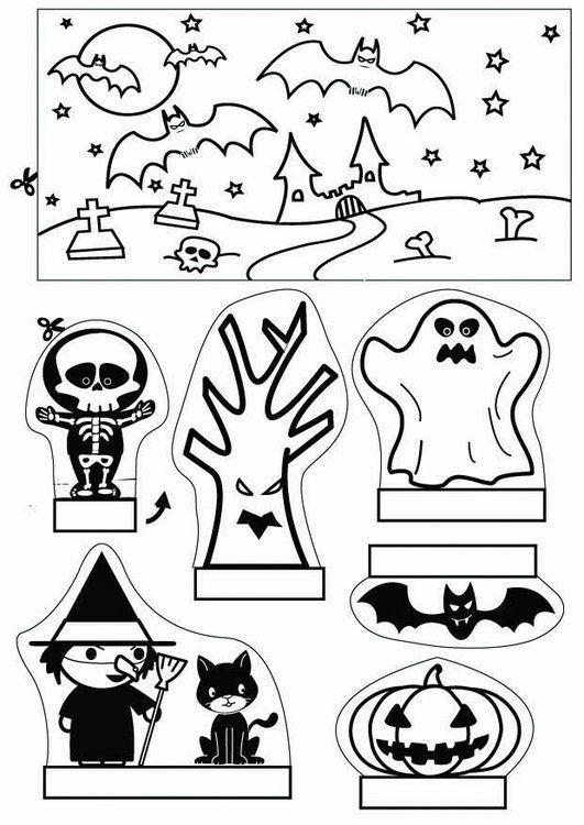 Knutselen kijkdoos Halloween