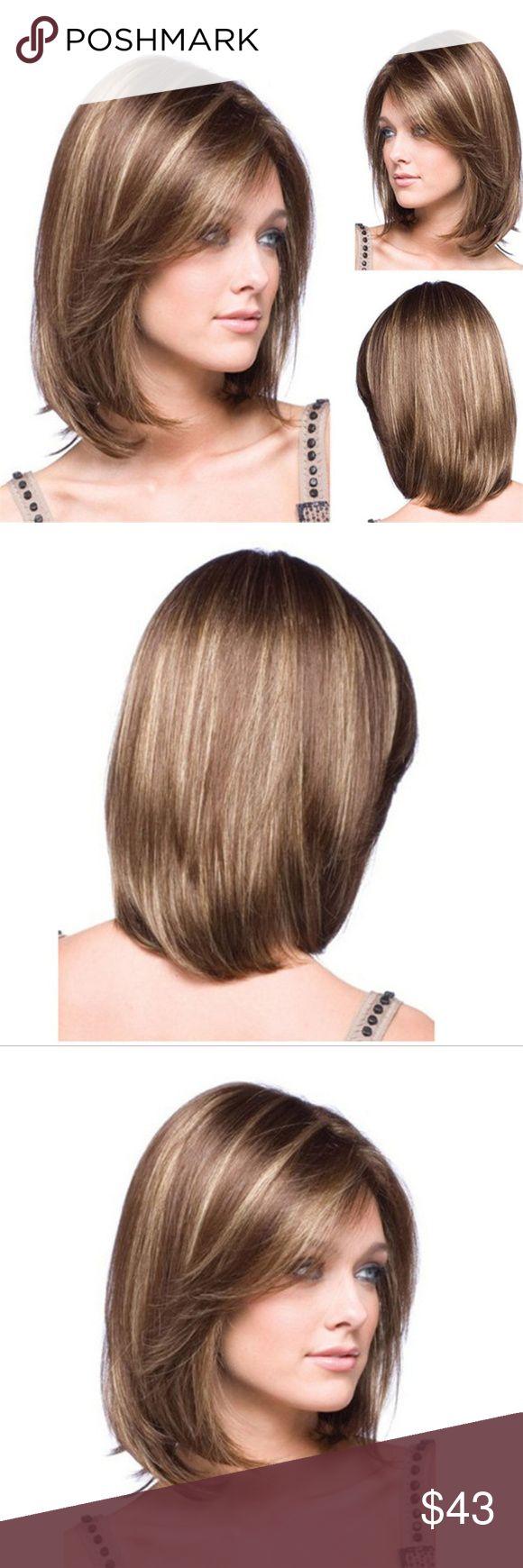 Wig Rambut wanita Lurus Pendek & Elegan Type Women Wig