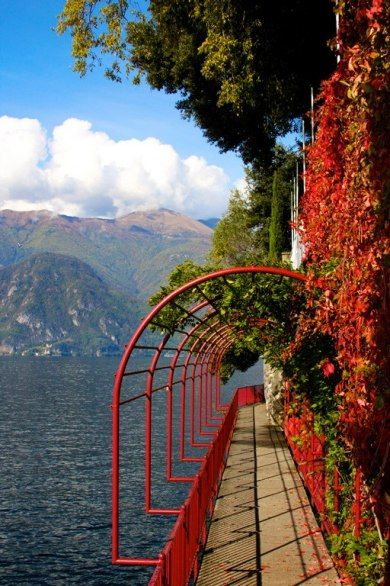 Varenna, Lake Como, Italy. It's a beautiful path along the lake!